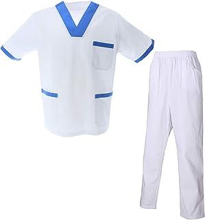 MISEMIYA - Uniformi Unisex Set Camice – Uniforme Medica con Maglia e Pantaloni Uniformi Mediche Camice Uniformi sanitarie ...