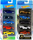 Hot Wheels Super Exotic Cars Lamborghini Superleggera Trofeo 5-Pack Bundled with Murciélago + Huracán + Aventador J + McLaren Race Porsche Aston Martin 2 Items