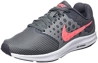 Nike Womens Downshifter 7 Running Shoe (Wide) Cool Grey/Lava Glow/Dark Grey/White Size 8.5 Wide US
