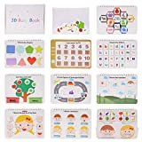 Preschool Montessori Toys Toddler Toys Busy Board Busy Book Autism Sturdy Sensory Book Toys Montessori Toys for Toddlers 10 Pages Body Parts and Sensens oddler Activity Board Educational Learning Toys