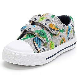 5. KomForme Multi-colored Toddler Dinosaur Shoes