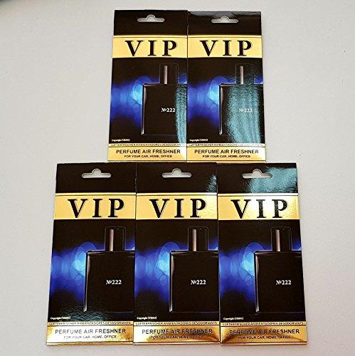 5 x Caribi VIP auto thuis of kantoor luchtverfrisser met parfumgeur van No222 - Chanel Bleu de Chanel