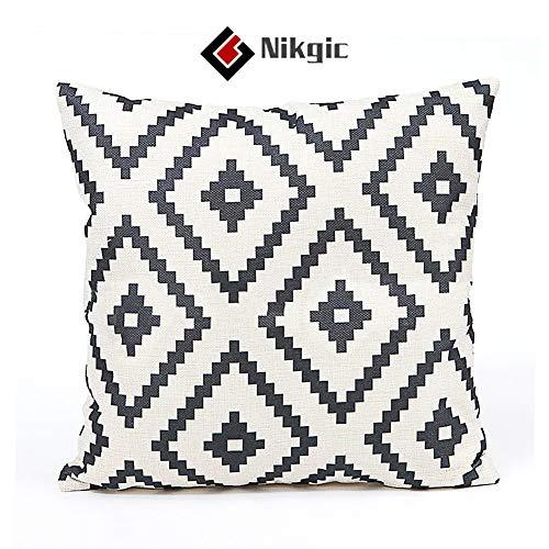 Nikgic Raute Muster Kissenbezug Super Weiche Kissen Fall für Home Coffee Shop Hotel Dekoration 45x45 cm (Nicht enthalten Kissen inneren)