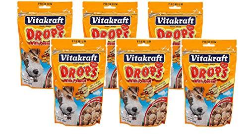 Vitakraft Drops with Peanut Dog Treat Snacks - 6 Pack