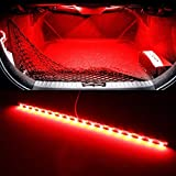 iJDMTOY (1) 18-SMD-5050 LED Strip Light Compatible With Car Trunk Cargo Area or Interior Illumination, Brilliant Red