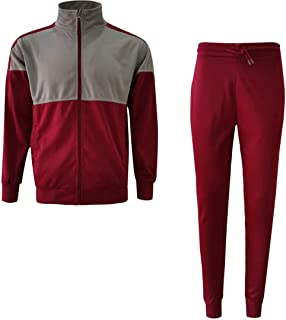 Men's Athletic Casual Pant and Hooded Jacket Sweatsuit Set