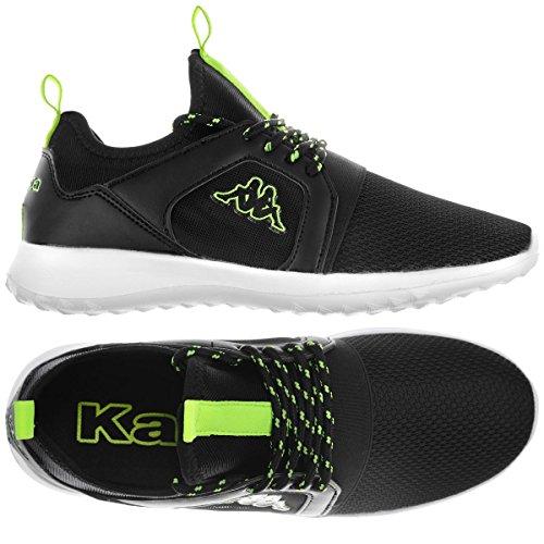 Kappa Unisex Kombat Malcot Black Green Lime Negro Size: 45 EU