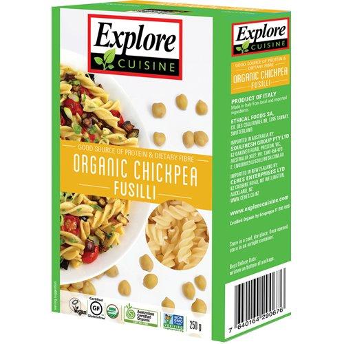 Explore Cuisine - Fusilli aus Kichererbsen, BIO, vegan, glutenfrei, 250g