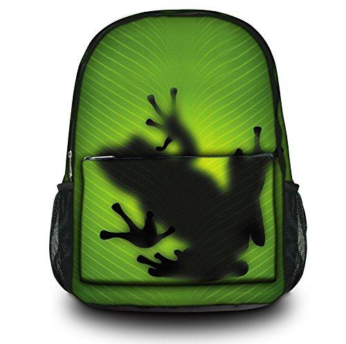 Zaino Sportivo Multifunzionale Luxburg Design , Motivo : Rana silhouette