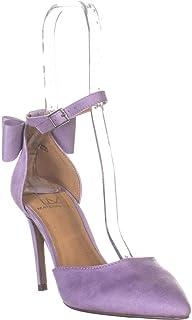 MG35 Pamer Ankle Strap Heels, Lavendar Micro