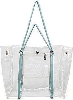 Beach Tote حقيبة الكتف الشاطئية الصيفية حقيبة يد المرأة PVC حقيبة حمل سعة كبيرة مناسبة للشواطئ الصيفية، المنتجعات، السفر أ...