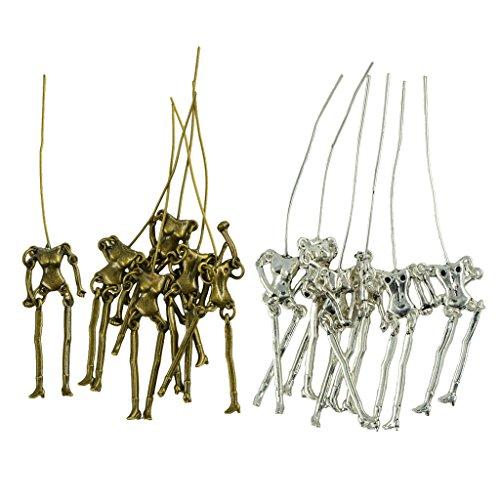 Hellery 12 Stücke Charme Klassische Menschliches Skelett Körper Puppen DIY Schmuck Anhänger Bunte