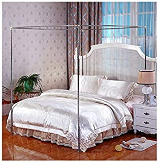 Stainless Steel Canopy Mosquito Netting Canopies Frame/Post Twin Full Queen King Size (FULL/QUEEN)