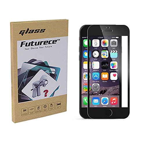 """Black Colorful Tempered Glass Screen Protector For iPhone 6 / iPhone 6S Security Guard Film Anti Bubble Extreme Clarity Shield Anti Scratch Fingerprint Resistant Explosion Proof Oleophobic 4.7""""Screen"""