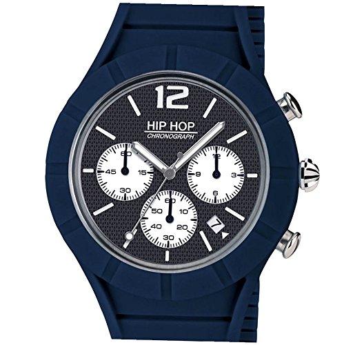 Hip Hop Orologio Cronografo Quarzo Uomo con Cinturino in Silicone HWU0658