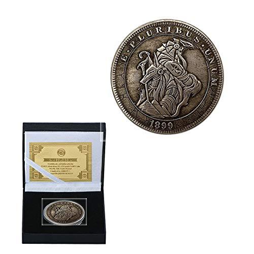 Vagabond Médailles Cuivre Antique Monstre Yeux Célestes Pièce De Monnaie Processus De Collecte Pièce Commémorative En Argent De Cuivre Supporter Un Poids Lourd/argent/Rond