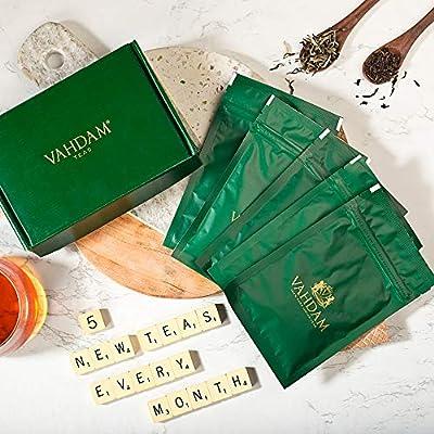 Vahdam, Loose Leaf Tea Variety Subscription Box - 5 Teas, 35+ Servings - 100% Natural Teas, Hand-picked from India's Choicest Tea Estates | 2.64 oz from Vahdam Tea