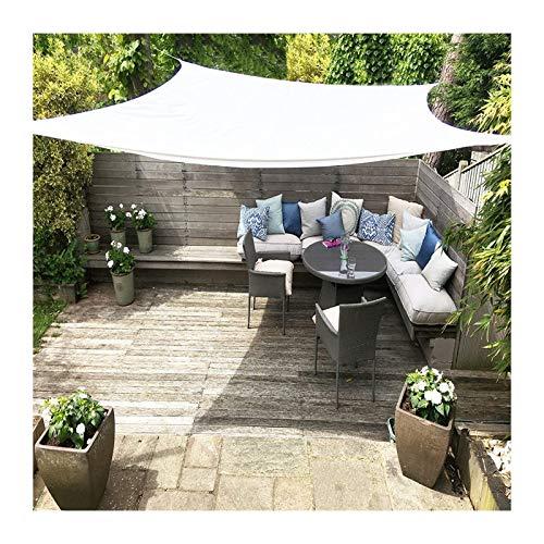 GuoWei Toldo Vela De Sombra, Carpas Rectangular Al Aire Libre con Bloque UV 95%, Lona De Sombrilla para Fiesta De Camping En El Patio, Tamaño Personalizado (Color : White, Size : 3x6m)