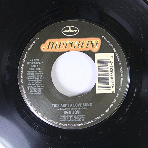 Bon Jovi 45 RPM This Ain't A Love Song / Always (Live at A&M Studios)