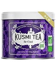 Kusmi Tea - Be Cool biologische kruidenthee - melange van planten, pepermunt, zoethout en appel - losse biologische kruidenthee, zonder theïne - metalen blikje van 90 g.