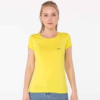 Slazenger YELENA Kadın 0 Yaka T-Shirt Sarı