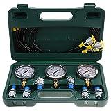 Kit de acoplamiento de prueba de presión hidráulica, kit de prueba de presión hidráulica de excavadora con punto de prueba de acoplamiento y manómetro