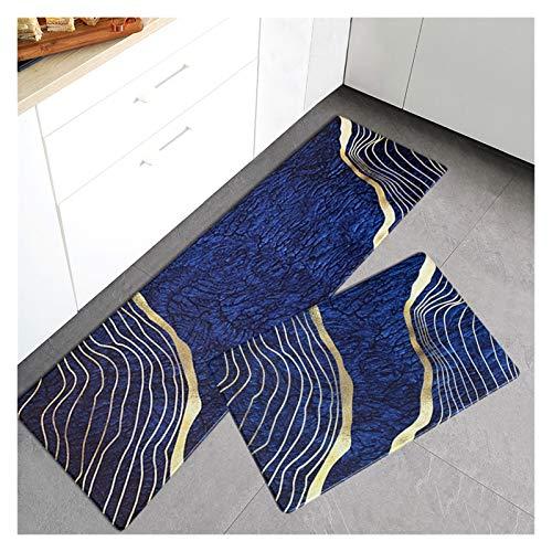 OMING Köksmattor och mattor köksgolvmatta PVC skrubbad matta lätt lyxig stil hushållsmatta golvmatta sovrum golvmatta golv komfortmattor (färg: S, storlek: 45 x 150 cm)