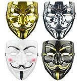 DWTECH Halloween-Vendetta-Masken-Set, Party, Weltbuchwoche, Halloween-Kit für Halloween, Cosplay,...
