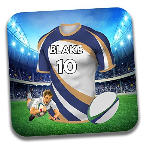 Personalisiertes Geschenk–Rugby-Shirt Mottoparty Getränke Untersetzer/Bierdeckel–Geburtstagsgeschenk–Strumpffüller–Die brumbies Farben