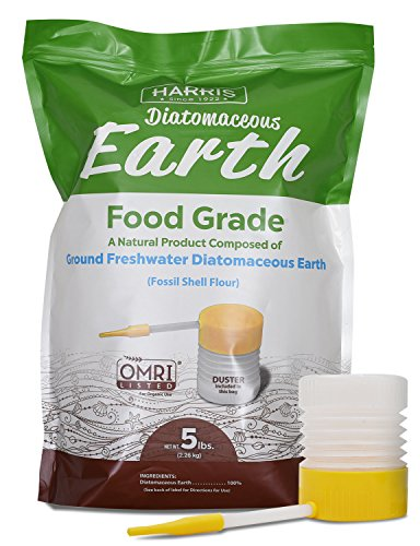 HARRIS Diatomaceous Earth Food Grade, 5lb with Powder Duster Included in The Bag