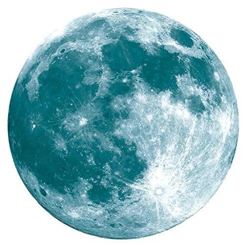 Skxinn 20Cm 3D Large Moon Fluorescent Wandaufkleber Abnehmbare Glow In The Dark Aufkleber Xmas Christmas Gadgets Gift Market (Mehrfarbig)