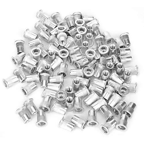 Tuercas de remache-100 piezas de accesorios de herramientas de reparación de tuercas de remache roscadas de metal para tubería de chapa metálica (0,5 mm-6 mm)