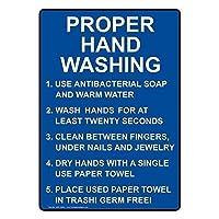 垂直適切な手洗いサイン金属標識通知記号