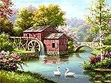 Diamante pintura casa punto de cruz venta diamante bordado paisaje diamante mosaico artesanías decoración del hogar A9 45x60cm