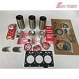 Para YANMAR 3TNE78A 3TNE78 reconstruir el anillo de pistón de la junta de rodamiento de la válvula