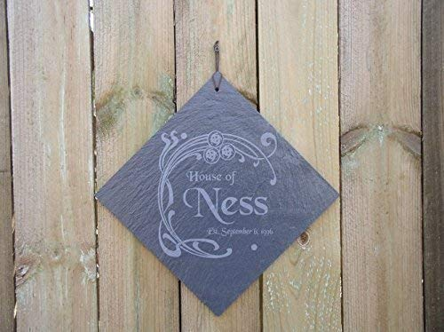 Personalized slate tile