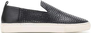حذاء رياضي نسائي Manda Perf بدون رباط من Hush Puppes، مصنوع من الجلد الأسود، مقاس 9. 5 US