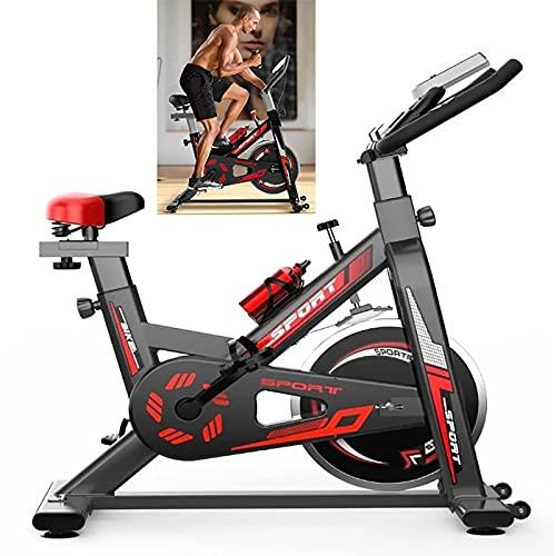 WOERD Bicicleta Estatica de Spinning Bici Ejercicio Gym Casa Indoor Fitness Volante 6kg, Bicicleta de Interior para Mujer, Monitor LCD de Frecuencia Cardíaca