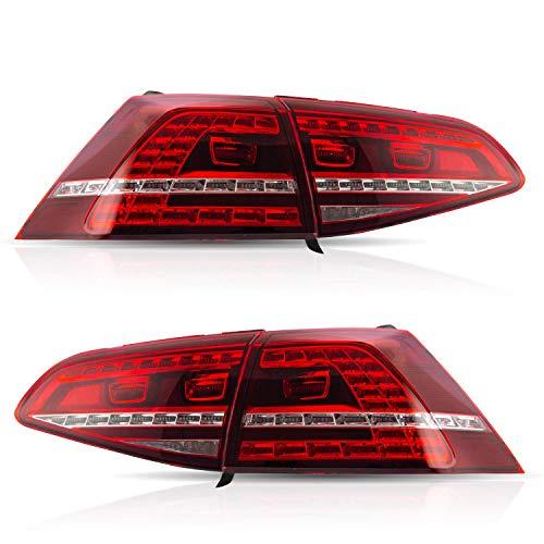 VLAND - Fanale posteriore per Golf 7 Golf7 MK7 R20 2013 2014 2015 2016 Golf7 MK7 LED