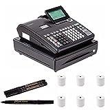 Casio Electronic Cash Register (PCRT500) with Counterfeit Bill Detector Pen Bundle