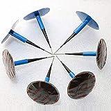 Cicony 'Plug-N-Patch' parche de goma para reparación de neumáticos con enchufe integral, paquete de 24