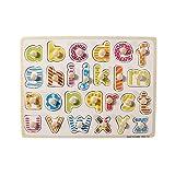 TOYMYTOY Puzzle de madera con diseño de alfabeto de vehículos para niños