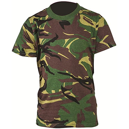 Highlander Boys Short Sleeve Cotton Military Camouflage T Shirt