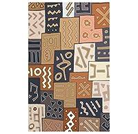 ボヘミアンシックなエリアラグ、伝統的なマルチカラーキャンバス印刷効果、モダンなモロッコエスニックデザイン、ミックスタイルビニール長方形のカーペット,真鍮,1.5×2m
