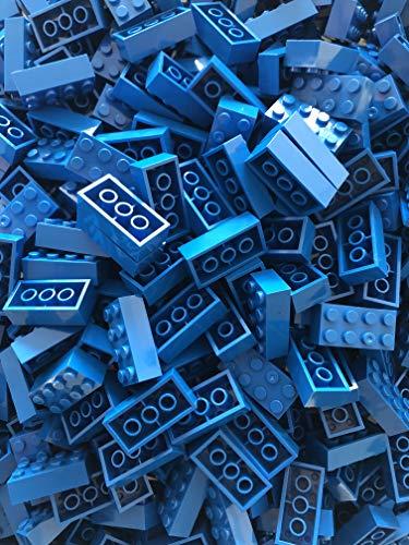 JUMEI Bausteine ( Bricks ) 8 er 4x2 Noppen 500 Stück 100 % Kompatibel zu Allen Anderen Herstellern (Blau)