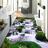 Papel pintado de suelo de peces mediterráneo 3D personalizado a prueba de agua para baño-350 * 275Cmpvc pegatina de suelo de baño impermeable papel de pared de vinilo
