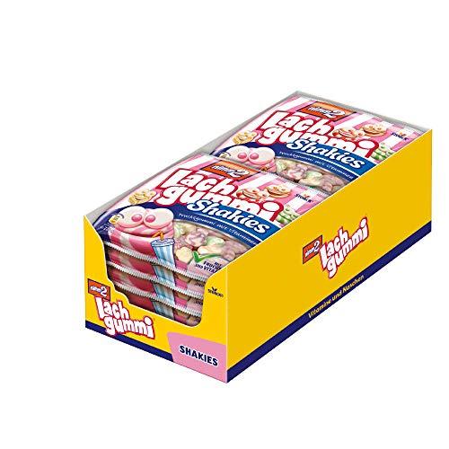 nimm2 Lachgummi Shakies (12 x 225g) / Fruchtgummi mit Fruchtsaft & Vitaminen
