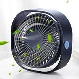 Ventilatore USB, Mini Ventilatore Portatile, Mini Ventilatore da Tavolo, Rotazione silenziosa Regolabile...