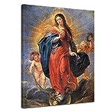 Wandbild Peter Paul Rubens Unbefleckte Empfängnis - 30x40cm hochkant - Alte Meister Berühmte Gemälde Leinwandbild Kunstdruck Bild auf Leinwand