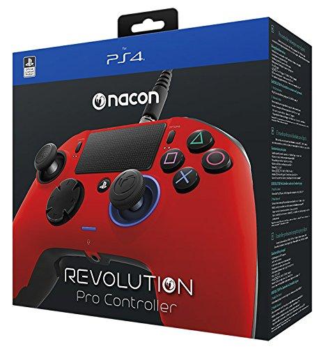 NACON PS4 Revolution Pro Controller [Offiziell lizenziert], rot